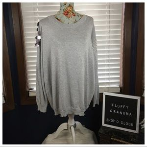 Simply Couture Gray Embellished Sweater XL